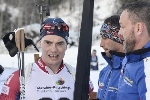 IBU: Fredrik Gjesbakk har en ny sjanse til å henge med i toppen av IBU-cupen sammenlagt når det er sprint på søndag. Foto: Trond Isaksen