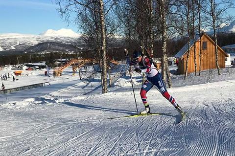 Marthe Kråkstad Johansen, B&Y IL, gikk inn til seier i 17-19-årsklassen for jenter. Hun hadde seks bom, men var likevel den beste.