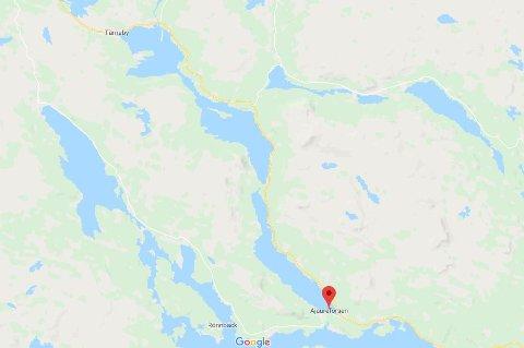 Funnstedet ved Ajoureforsen ligger noen mil sør for Tärnaby.