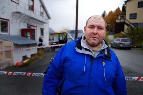 Ørjan Olsen varslet politiet med en gang han fant kollegaen død i dag. foto: Øystein Solvang