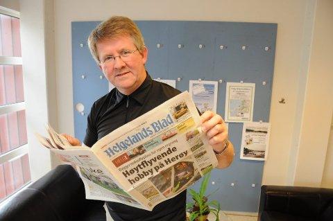 Helgelands Blad er felt på to punkter i PFU. Bildet viser redaktør Morten Hofstad.