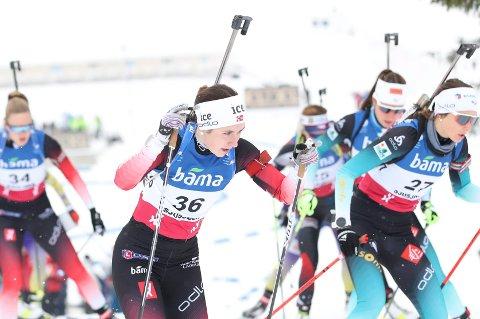 TREFFSIKKER: Marthe Kråkstad Johansen skjøt fullt på standplass og gikk et solid løp i Brezno-Osrblie.