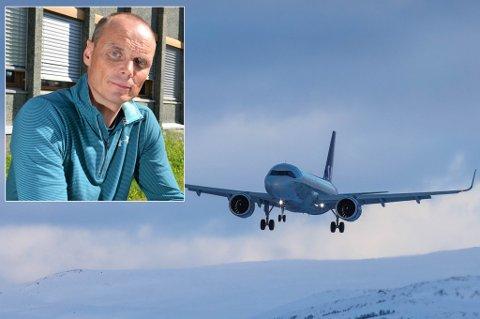 KRITISK: Bardu-ordfører Toralf Heimdal rister på hodet av trafikkveksten til og fra nordnorske flyplasser i løpet av påskehøytiden. Det er ventet 91 flyankomster til Tromsø og 13 SAS-maskiner til Bardufoss de neste fem dagene.