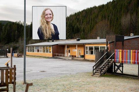 JUBEL: Helene Rotmo (innfelt) er svært glad for at politikerne i Sp snudde i skolebyggsaken. Nå jobber hun videre for mulig skoleoppstart i august.
