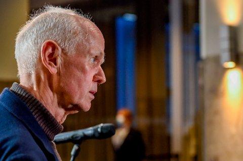 Smitteverndirektør Geir Bukholm etter  pressekonferanse om vaksinasjonsstrategi. Foto: Annika Byrde / NTB