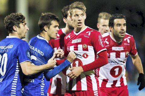 Klubbytte: Thomas Lehne Olsen ønsker å skifte klubb. Aleksander Melgalvis håper han kommer til Lillestrøm. Foto: Jon Olav Nesvold / NTB scanpix