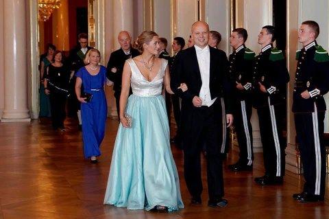 GALLA: Emilie Enger Mehl (Sp) stilte i hjemmesydd kjole på slottsmiddag for stortingsrepresentantene.
