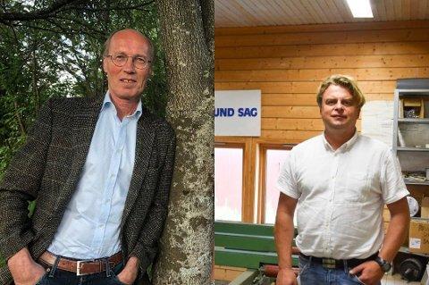 UNDERSKUDD: Både Veldre Almenning med bestyrer Terje Uggen og Nes Almenning med bestyrer Tore Lien Bjørnstad endte med et negativt resultat i fjor som følge av eierskapet i RingAlm.