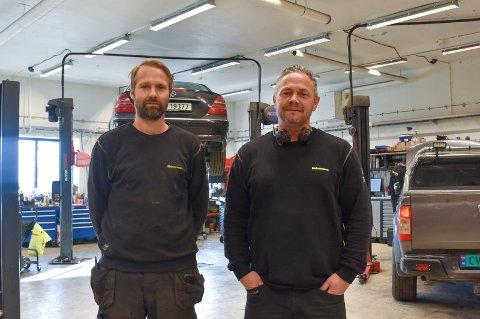 EIERE: Jim Tony Spangen og Tor Bjørnar Berg starter opp i Furnesvegen med rundt sju ansatte.