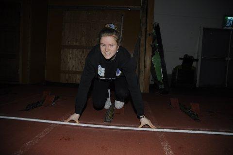 STJERNESKUDD I LIMTREHALLEN: Henriette Jæger er rene raketten. Hun har løpt 60 meter på 7,37.