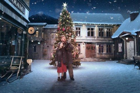 "Juleforestilling: Her et glimt fra fjorårets tater om ""Den vesle bygda som glømte at det var jul""."
