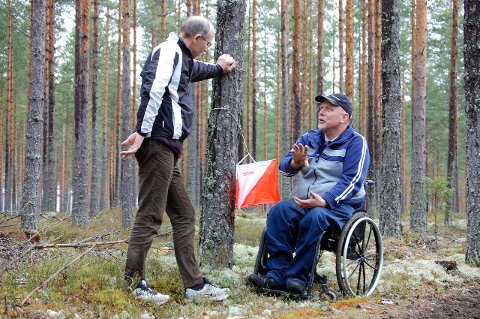 Tom Bondehagen og Harald Mælingen har tidligere drevet med orientering for funksjonshemmede. Nå er Fossekallen en av arrangørene bak nytt friluftslivkurs.