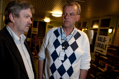 SAMARBEID: Kjell B. Hansen fra Arbeiderpartiet  samarbeidet i mange år med Høyres Runar Johansen. - Jeg kommer til å savne de gode samtalene, sier Runar Johansen.