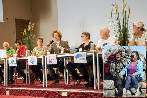 Tone O. og Jan Ivar Jansen har lest om debatten på Tyrifjord skole.