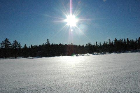 Strålende sol: Slikt vær er ventet i helgen for skifolket. Foto: Jan Torkel Torstensen