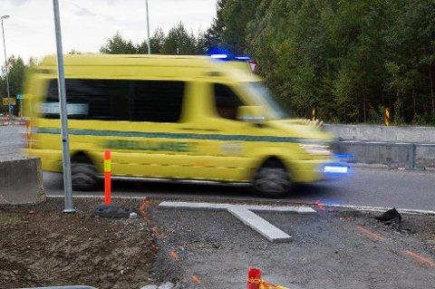 Ambulansesjåføren slo av sirenen før bilen passerte hund og hundeeier. Foto: Knut Andreas Ramsrud