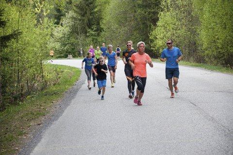 Sju etapper er unnagjort, blant annet denne fra Søndre torg til tømmervekta ved Follum. Torsdag kveld løpes siste etappe.