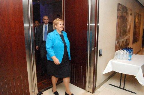 Statsminister Erna Solberg kommer til Hadeland torsdag kveld.