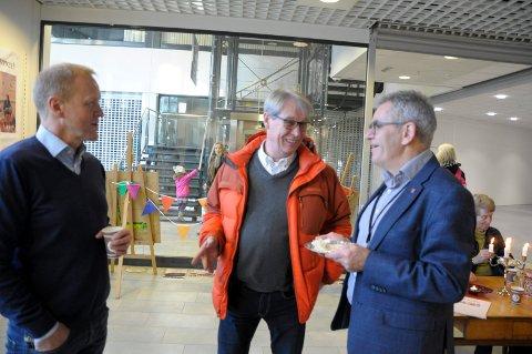 Mats Øieren, Svein Eystein Lindberg og Magnar Ågotnes mente kulturpop-up var en svært godt idè.