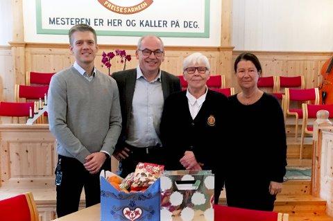 Akas økonomi- og finanscontroller Thomas Simonsen, utviklingsdirektør Terje Dahlen, Frelsesarmeens Mona Tørkli og administrerende sekretær i Aka Liv Hagen.