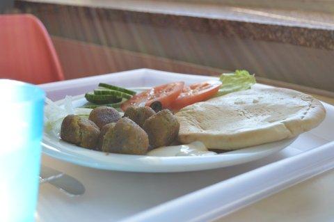 Kantinen ved Tyrifjord videregående skole tilby internatelevene utelukkende vegetarmat.