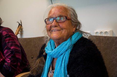 Astrid Messel trives veldig godt på dagtilbudet ved Austjord, og gleder seg til hvert besøk.