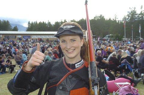 Femteplass i fjor: Anne Ingeborg Sogn Øiom fra Jevnaker ble nummer fem i kampen om prinsessetittelen på Landsskytterstevnet i fjor. I år er hun blant favorittene igjen.