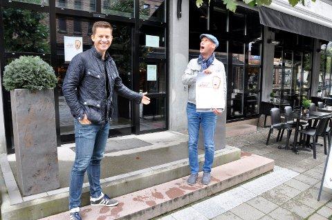 Gleder seg: Jørn Atle Støa og Hans-Esben Gihle gleder seg til å underholde publikum på Eger & Co.