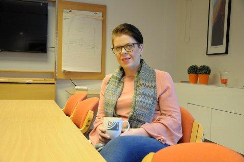 Søndre torg: Helene Halvorsen, markedskoordinator i RNF ønsker sammen med sentrumsbutikkene liv og røre i sentrum på lørdag.