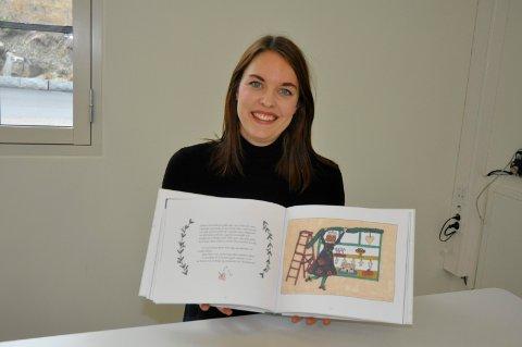 Tegner selv: Tonje Christine Hallsteinsen har aldri tegnet før. Nå har hun gjennomillustrert sin flunkende nye bok Et juleønske.