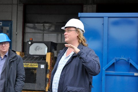 Nordens største: - Vi kan bli Nordens største vedprodusent, sier Ole Mælingen i Varma. Her sammen med Gjermund Hagesæter i Kryptovault.