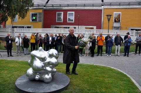 Glad: Per Inge Bjørlo var glad for at skulpturen ble så godt mottatt.