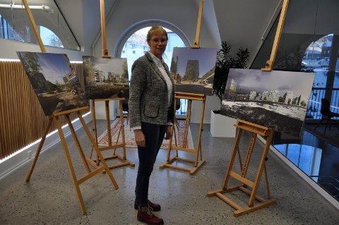Framtida? Utviklingsdirektør Ellen Grønlund hos Tronrud Eiendom håper Hønefoss kan bli slik en gang i framtida.