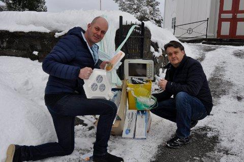 Til Ndapula: Svein Borgen og Lars Fredrik Norum.