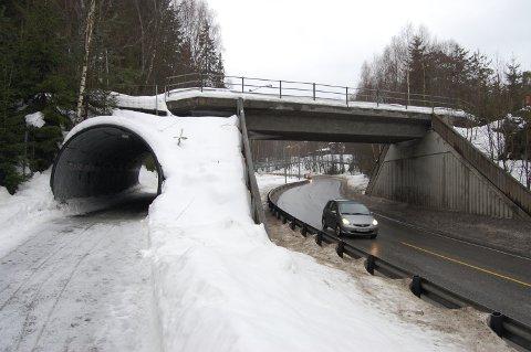 FOR TI ÅR SIDEN: Gang- og sykkelvei mellom Veien og Hønefoss stasjon kan bli fredet.