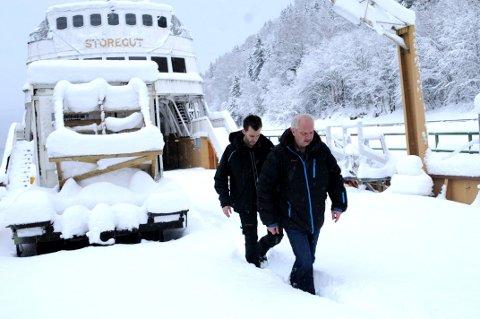 MILLIONER: Kaptein Tommy Leikanrud og leder av Rjukanbanen Einar Gabrielsen har en lang liste over gjøremål som bør tas fatt i. Men det koster penger, og det gjelder å prioritere.