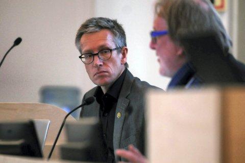 Rådmann Rune Engehult og ordfører Bjørn Sverre Birkeland
