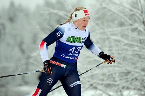 GÅR FORT: Vilde Flatland sikret seg nye norgescuppoeng da hun hadde 24.beste tid i den såkalte U 23-klassen på 15 kilometeren i NM.