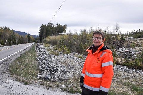 ROSSEBU: Prosjektleder Trude Holter forteller at mandag 3. august legger de fram planprogrammet for ny trasè på E134 til høring.