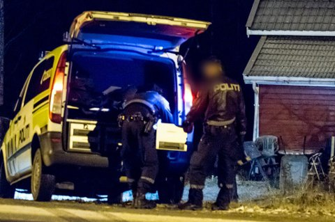Storaksjon: Huset var tomt da politiet ankom lørdag kveld.