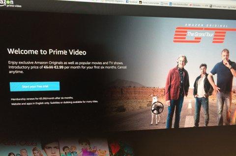 LANSERT: Strømmetjenesten Amazon Prime ble onsdag lansert i Norge.