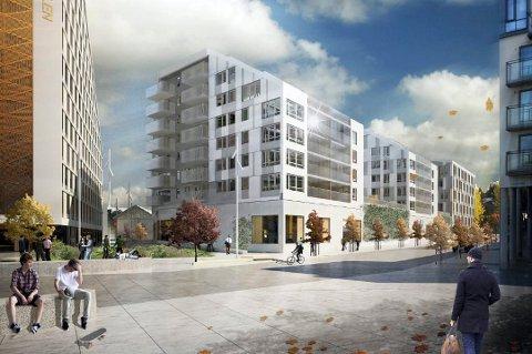 POPULÆRT: Etter litt over tre måneder er allerede 89 av de 144 leilighetene i Portalen Lillestrøm solgt.