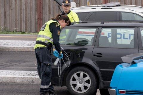 SJEKKET DRIVSTOFF: En bilist ble anmeldt for å kjøre med ulovlig diesel.