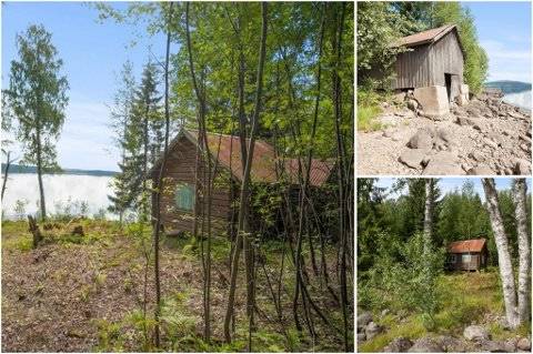 EKSTREM: Eiendommen har en hytte på 28 kvadratmeter i tillegg til et båthus. Den gikk for700.000 kroner over prisantydning.