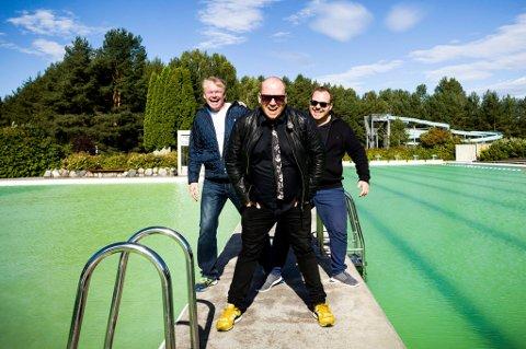 DE FØRSTE ER SIGNET: Trioen bak Nebben-festivalen, Jan Martinsen, Ronny Bergersen og Fredrik Østbye forteller at jobben med å booke artister er i full gang. FOTO: LISBETH ANDRESEN