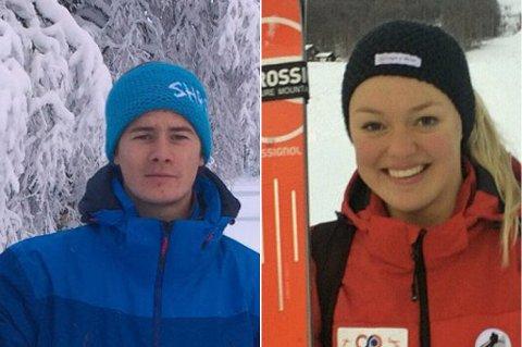 KARRIEREBESTE: Både Thea Louise Stjernesund (til høyre) og Patrick Haugen Veisten leverte gode E-cup-prestasjoner.