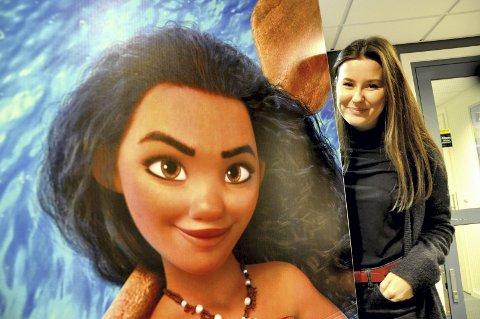 DISNEYs nye kongelige: Nora Gjestvang fra Lillestrøm spiller Disney-prinsessen Vaiana i filmen med samme navn.FOTO: Øystein Tronsli Drabløs