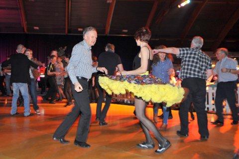 Plass til å svinge seg: Bildet er fra en tidligere dansegalla i Letohallen hvor også Contrazt sto på scenen.