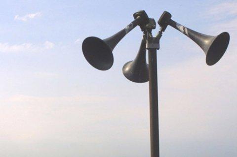 TESTES: Onsdag skal Sivilforsvarets sirener og tyfoner igjen testes.