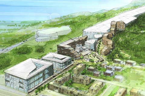 Skolen planlegges i tilknytning til Lørenskog vinterpark. Skihallen og tilliggende bygg vil ifølge utbyggerne fungere som en støyskjerm mellom E6 (t.v) og bebyggelsen på Ødegården.